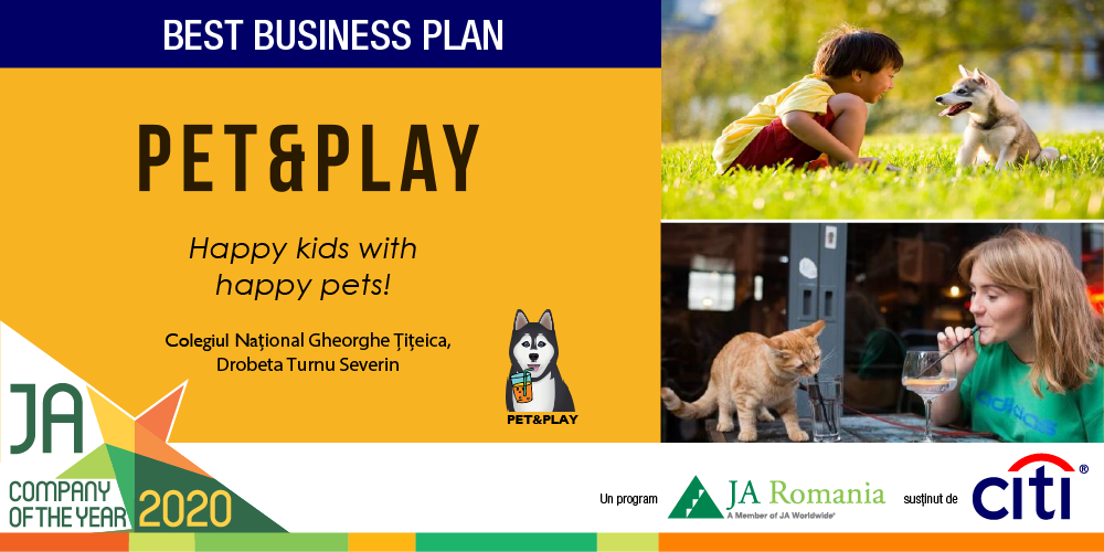 Best Business Plan Award, primit de echipa de elevi Pet & Play
