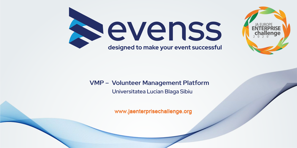 Echipa VMP - Volunteer Management Platform, Universitatea Lucian Blaga din Sibiu, la JA Europe Enterprise Challenge 2020